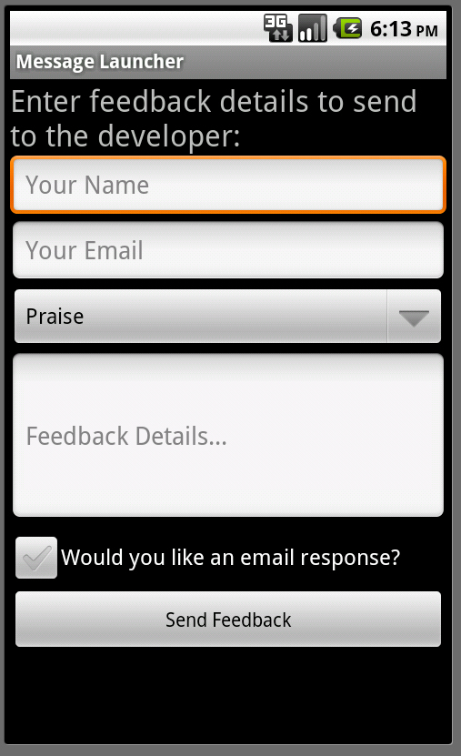 android simple chat application example