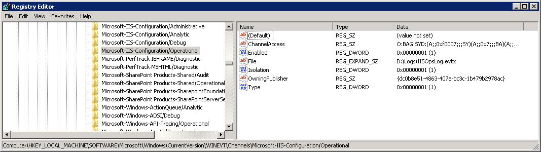 powershell get eventlog applications and services logs