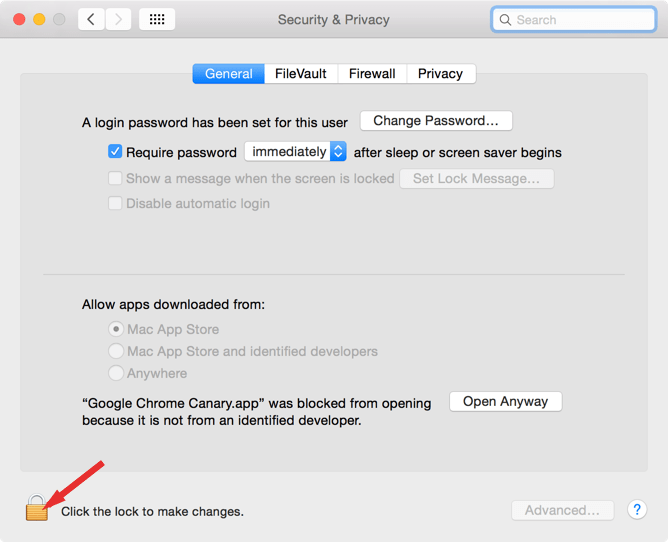 allow applications downloaded from anywhere mac missing