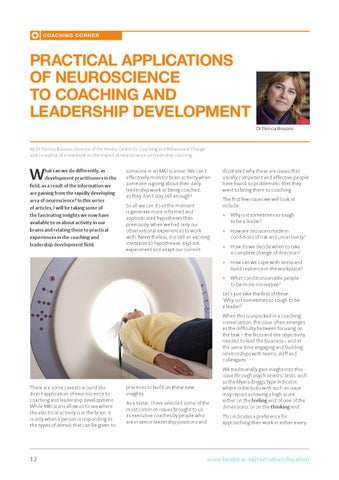 the neuroscience of leadership practical applications