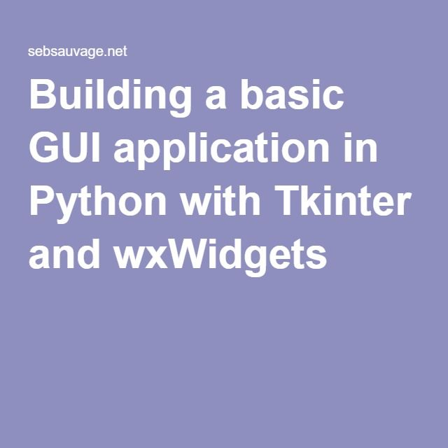 tkinter gui application development blueprints example code