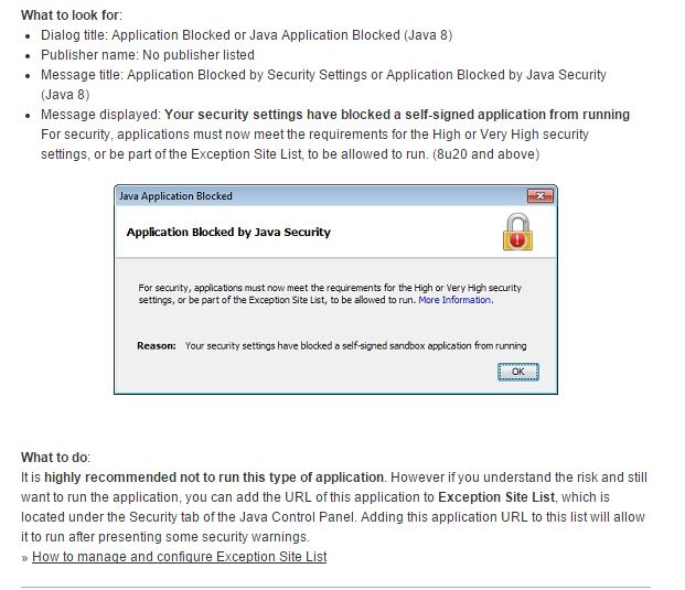 application blocked by security settings ie
