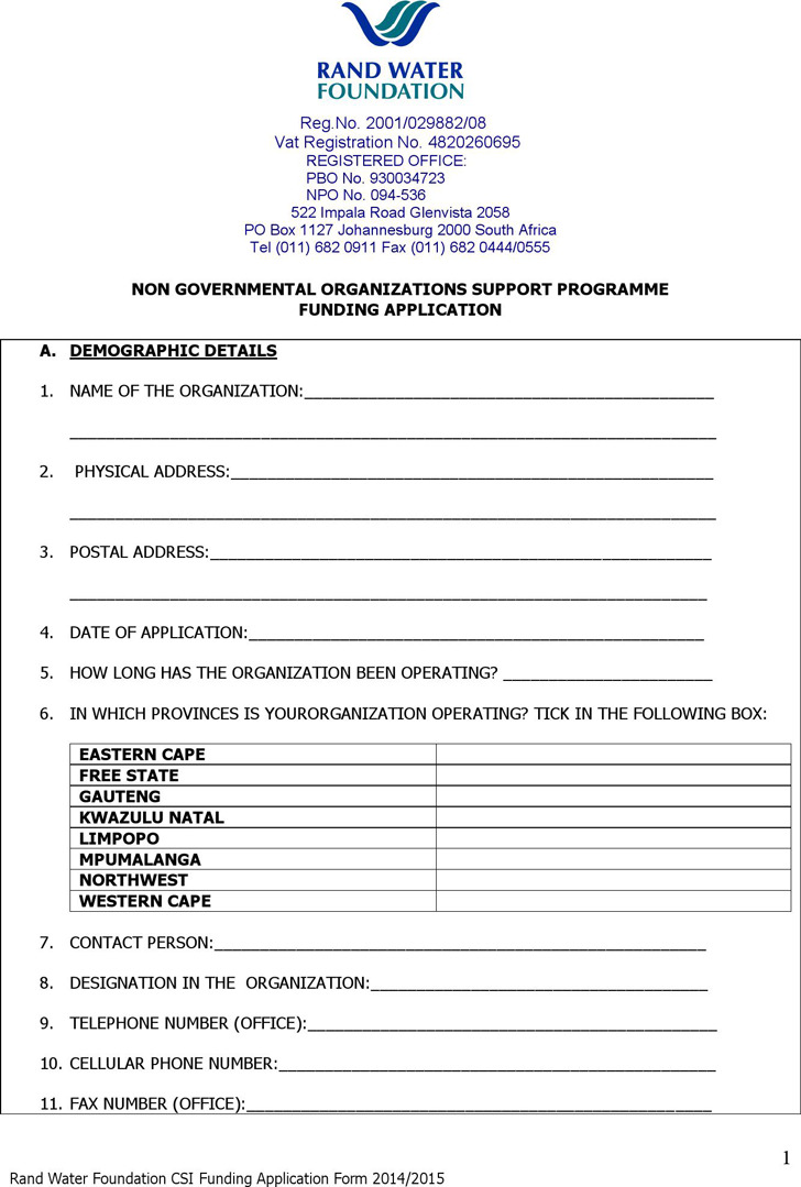 carers support grant application form
