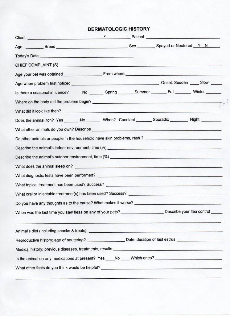new client application form template