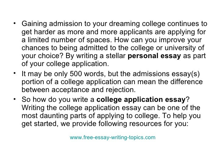 how to write application for admission in college