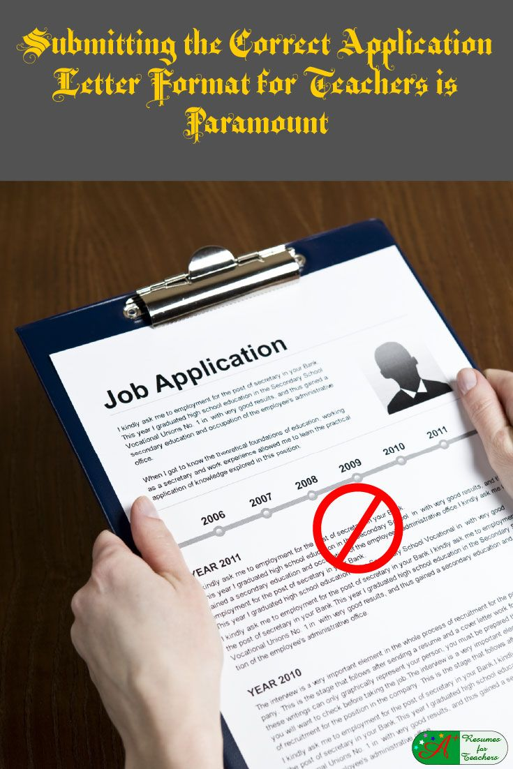 how to right a job application