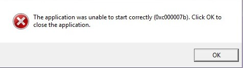 how to fix application was unable to start correctly