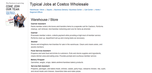 www costco com employment application