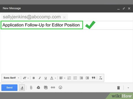 write a follow up email for a job application