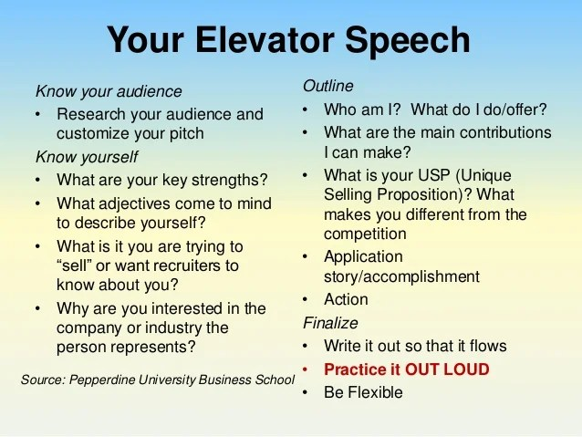example of best pitch for job application