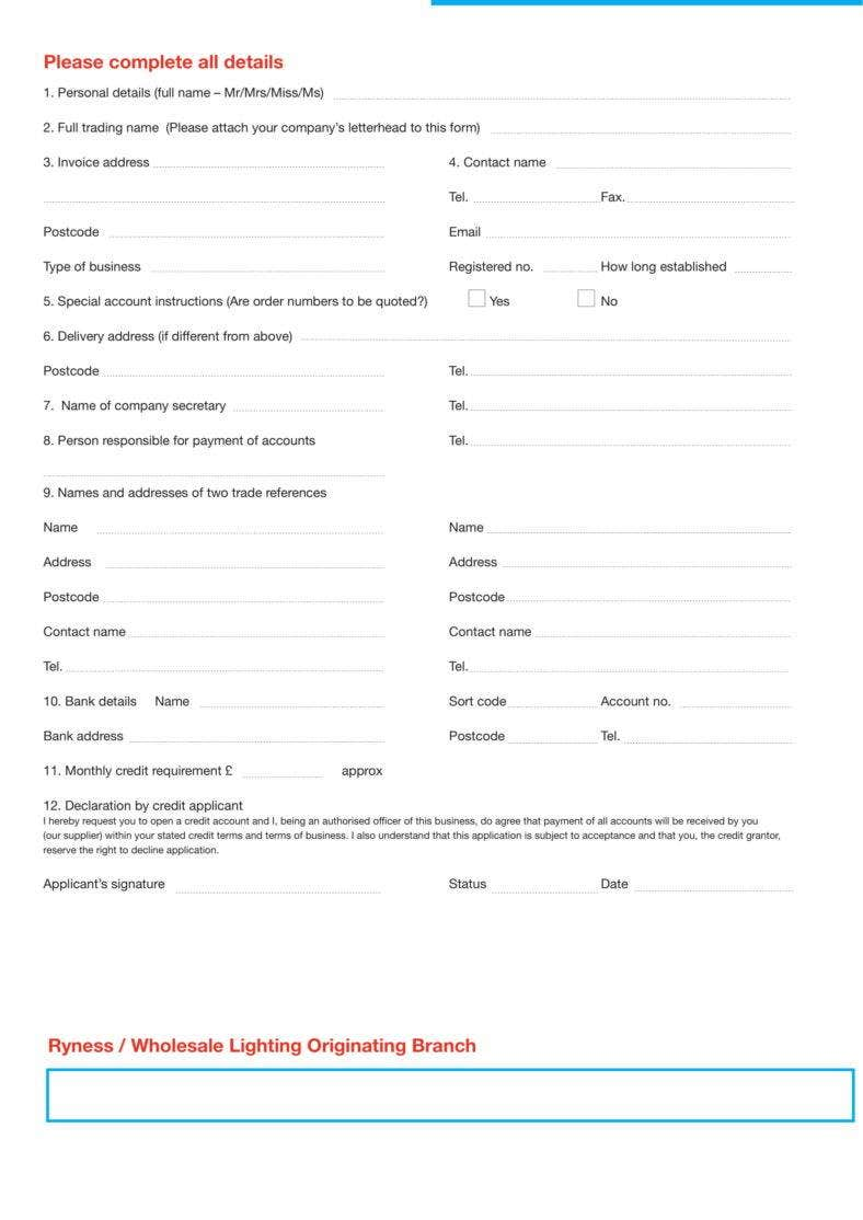 create a free application form