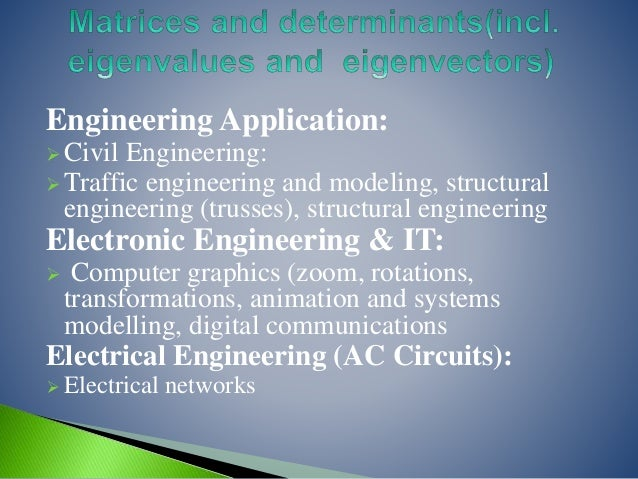 application of mathematics in engineering field