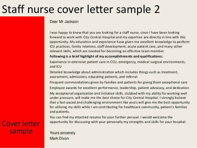 sample application letter for hospital nurses applicants