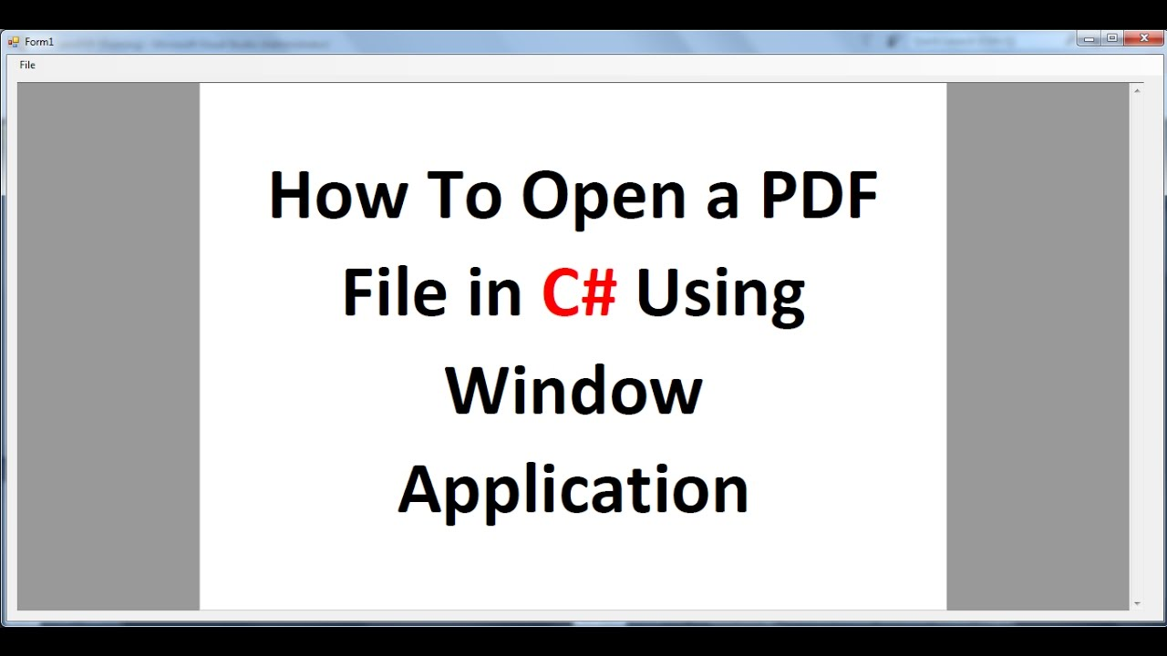 how to open pdf file in android application