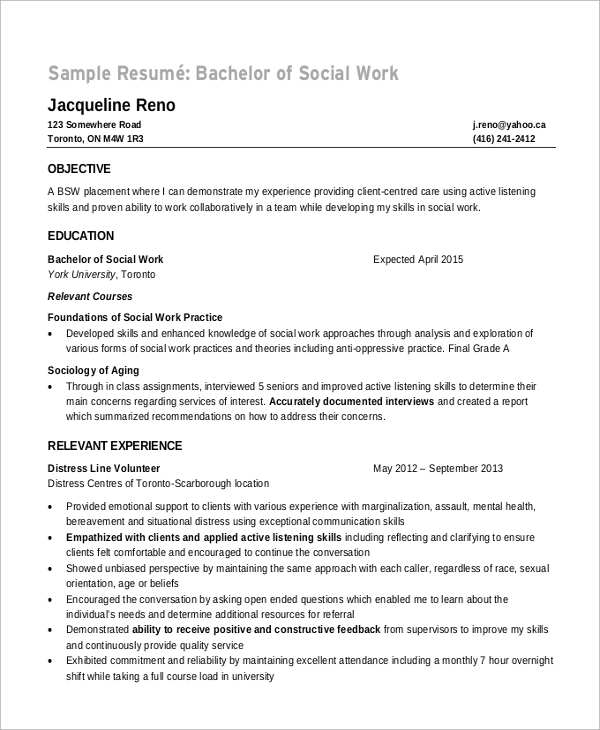objective in resume for new applicant