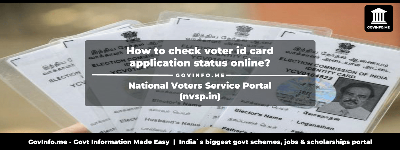 online application status for voter id card