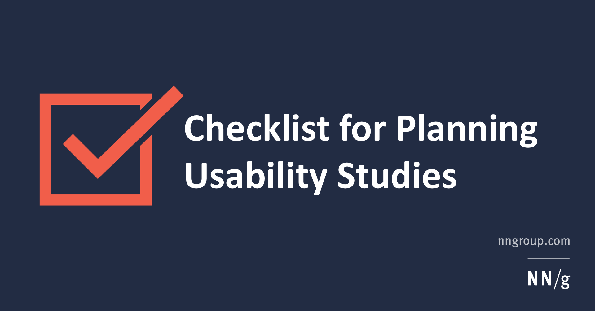 usability testing checklist for web application