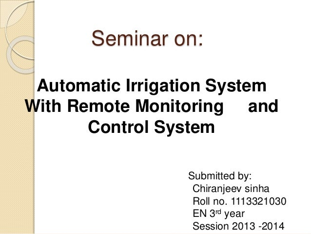 applications of automatic irrigation system
