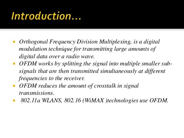 applications of frequency division multiplexing