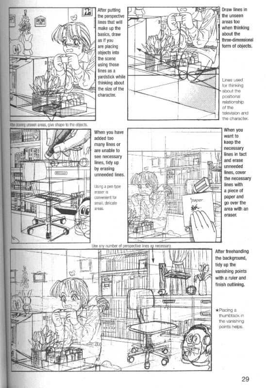 how to draw manga compiling application and practice