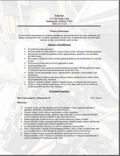 example of application letter for electrician