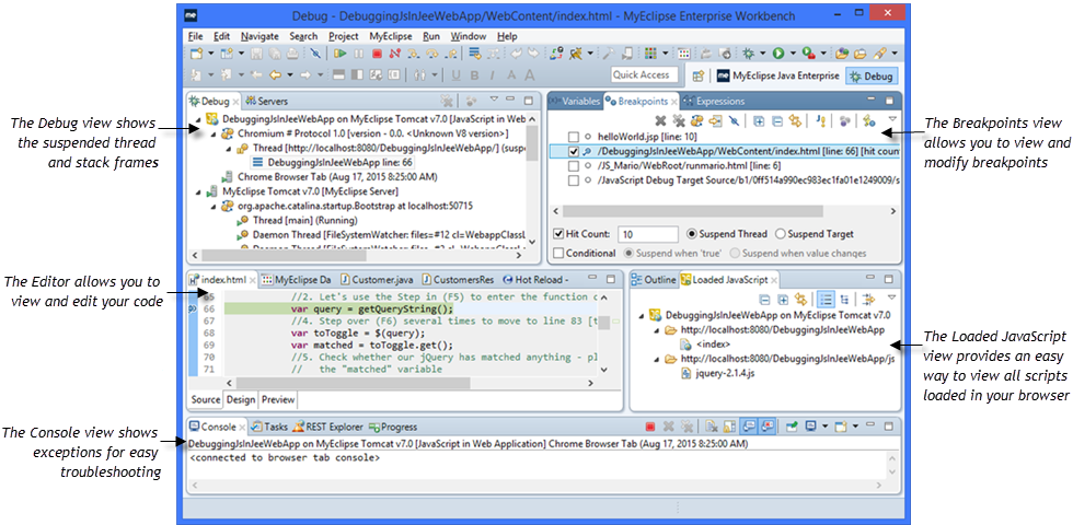 how to debug web application in eclipse