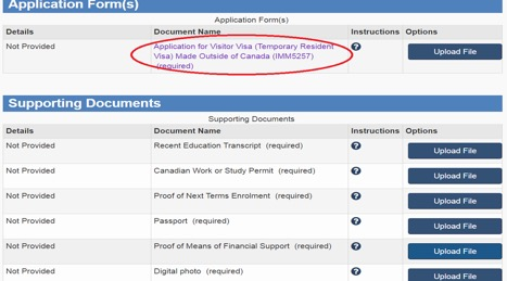 application for study permit made outside of canada