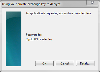 an application is requesting access to a protected item avast