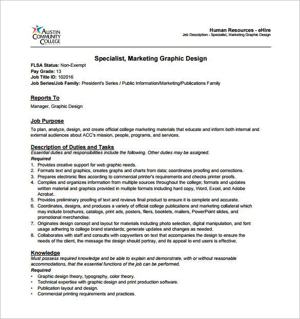 application for graphic designer position
