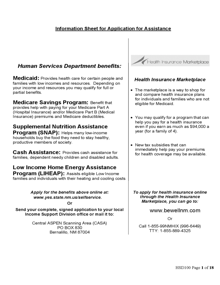 application for housing assistance form