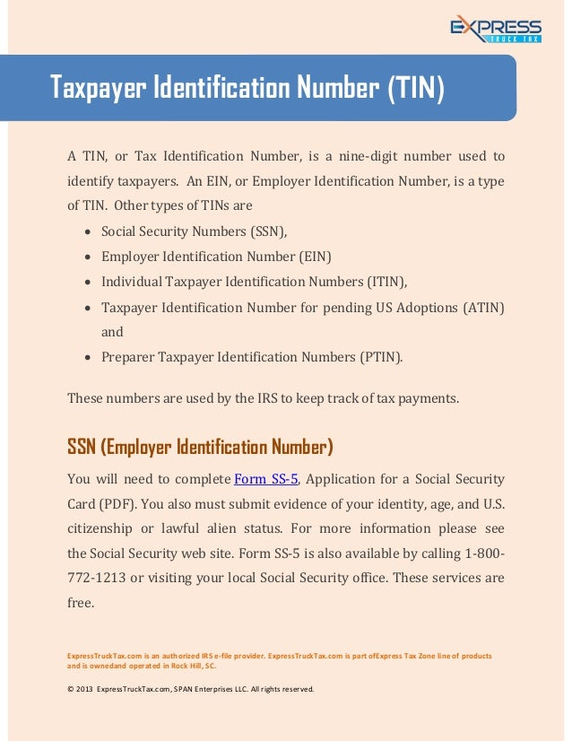 application for irs taxpayer identification number