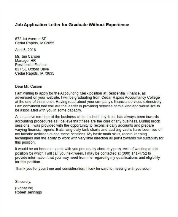 application for job experience letter