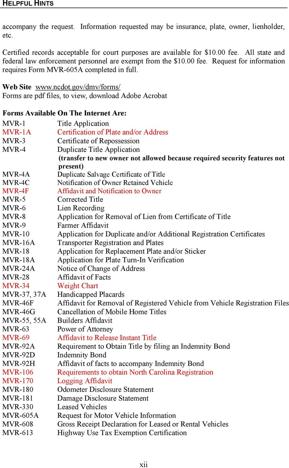 application form for transfer of vehicle