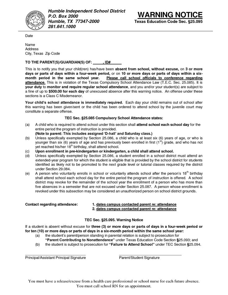 application letter for absent in school