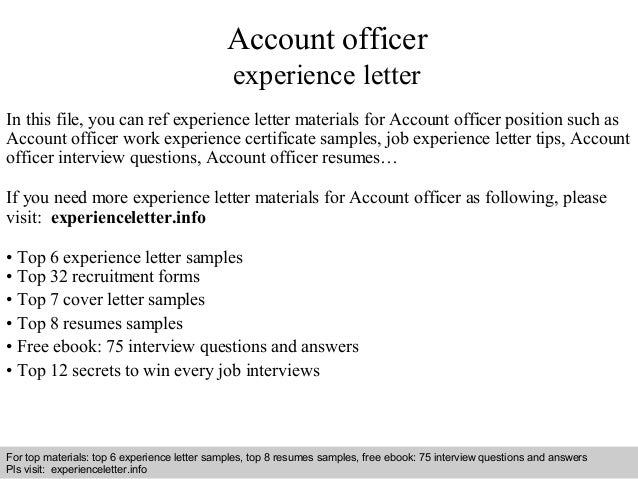 application letter for account officer