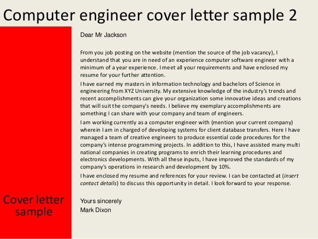 application letter for engineer position