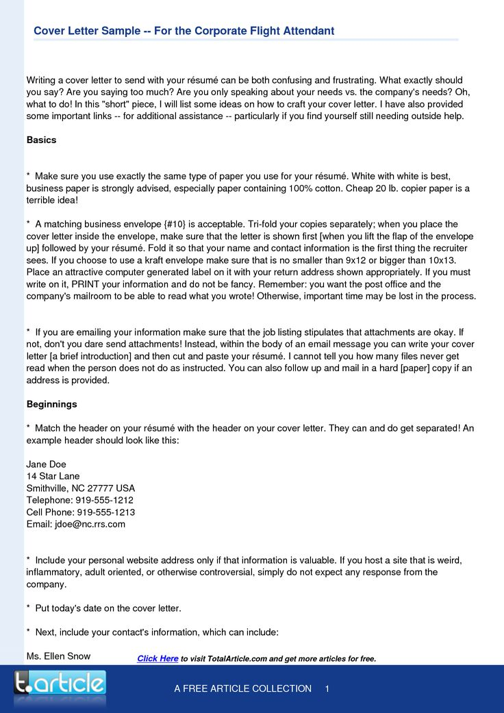 application letter for flight attendant