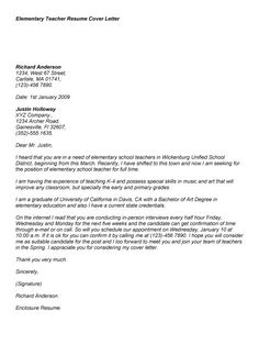 application letter for the post of teacher in primary school