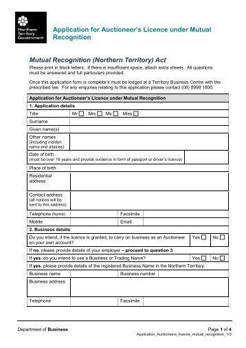 application notice rta licence appeal