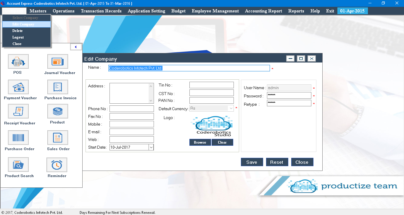 application of accounting information system