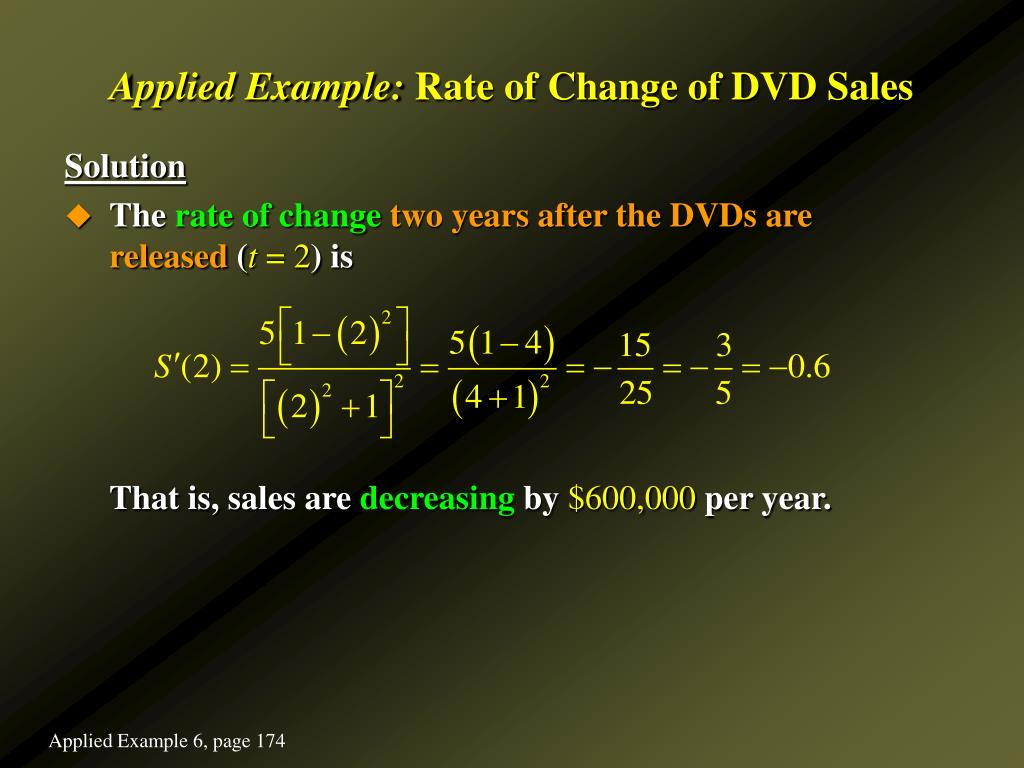 application of differentiation rate of change