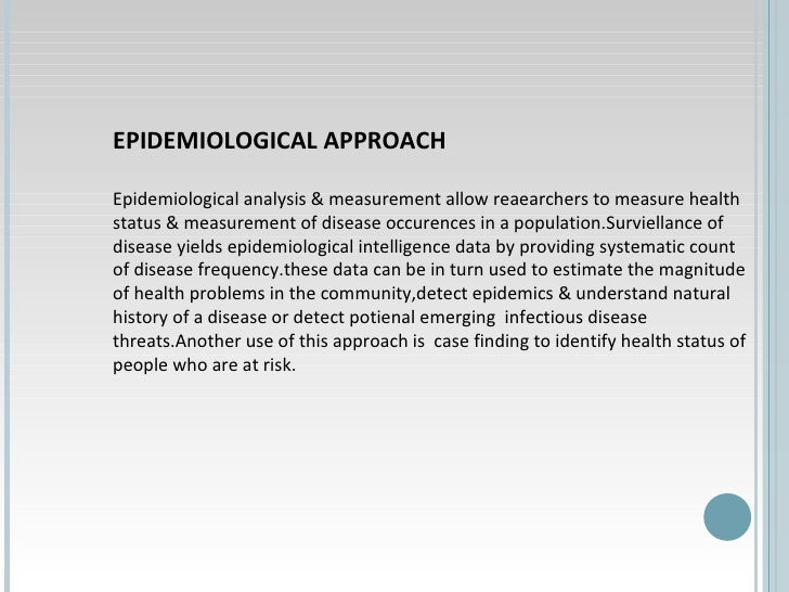 application of epidemiology in community health nursing