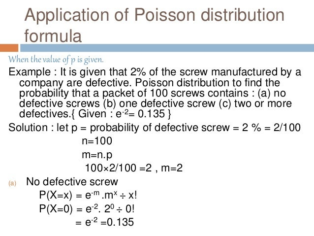 application of poisson distribution in business