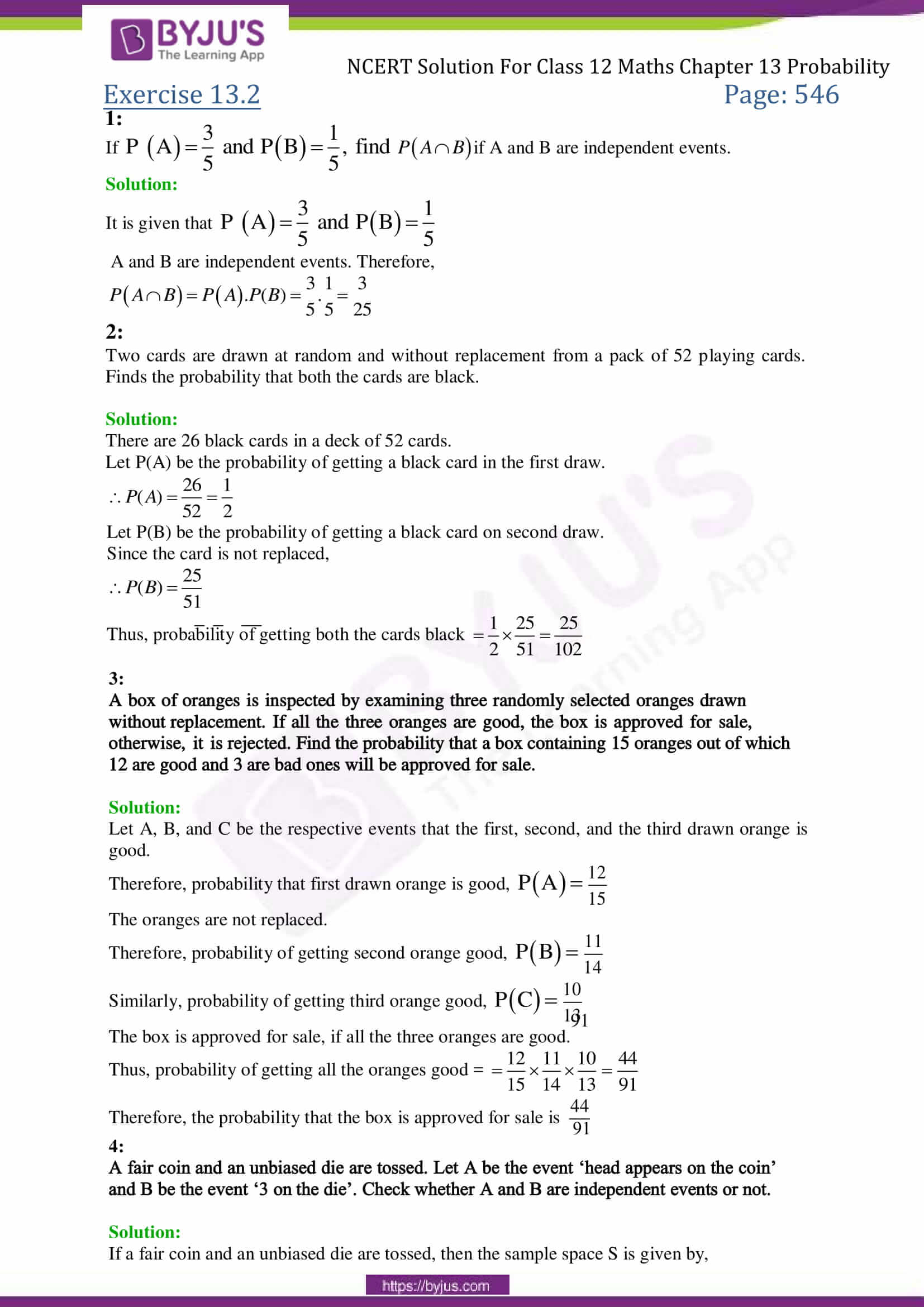 application of probability in real life pdf