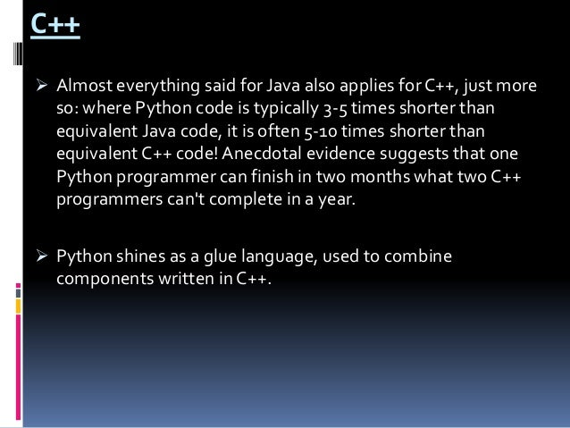 application of python programming language