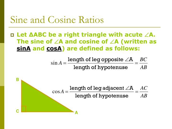 application of sine and cosine