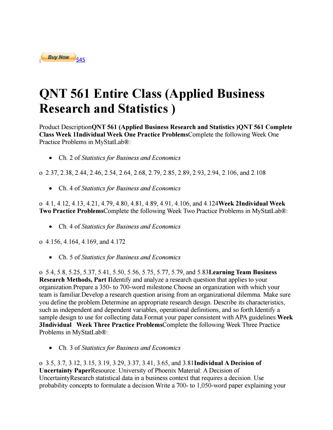 application of statistics in business with examples