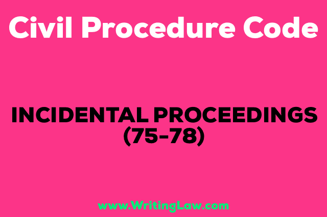 application proceedings in civil procedure