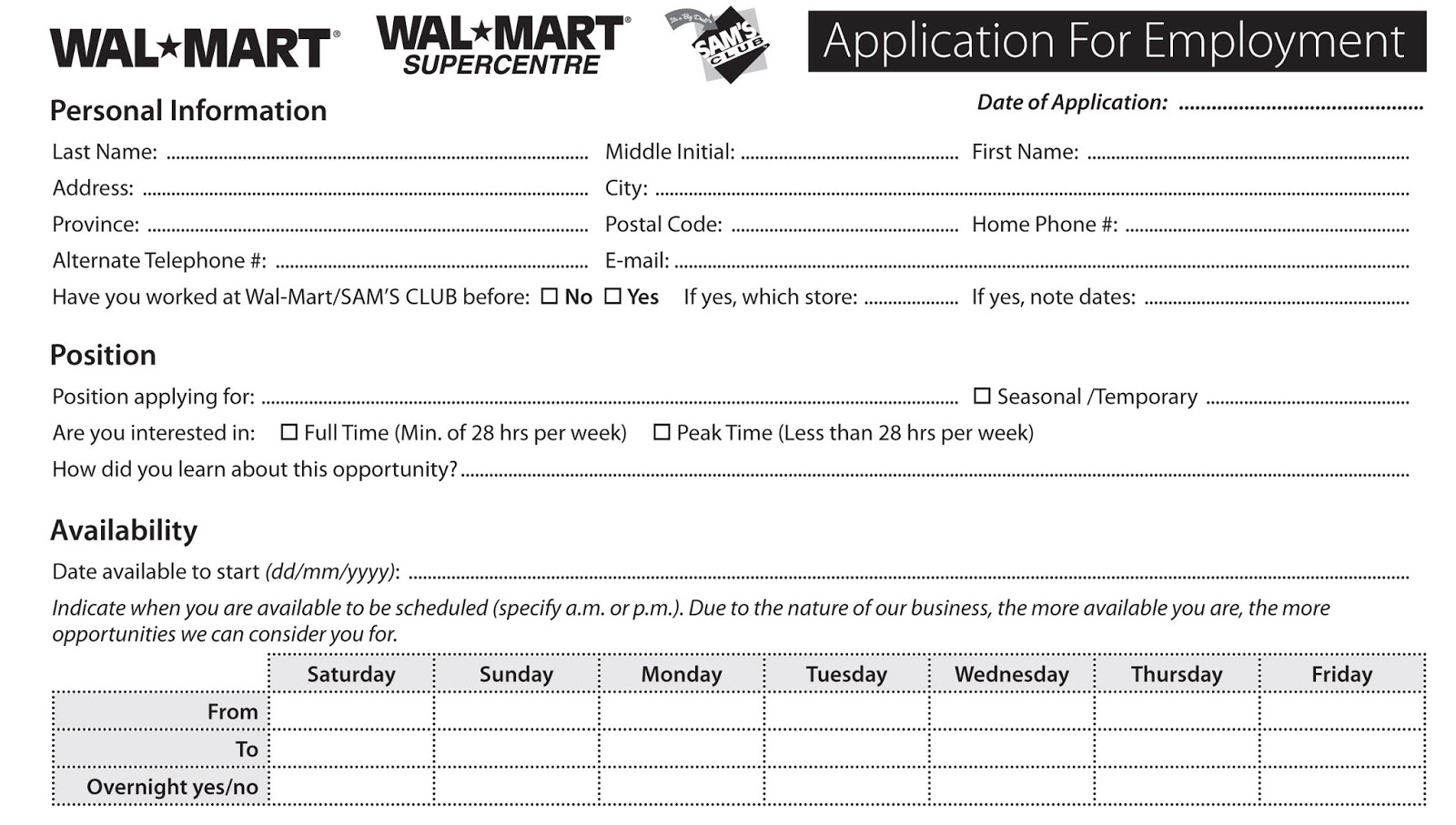 application support document template sample