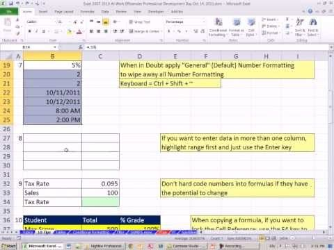 applications of ms excel 2007